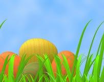 Wielkanocnych jajek sposobów Zielona trawa I paśnik royalty ilustracja