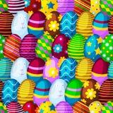Wielkanocnych jajek tła wiosny wektoru bezszwowa deseniowa ilustracja Witać sezonu ornamentu kurczaka dekoracyjnych jajka ilustracja wektor
