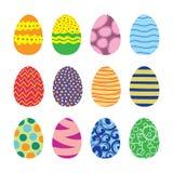 Wielkanocnych jajek Wektorowe ikony Ustawiać Obraz Royalty Free