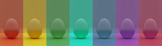 Wielkanocnych jajek wielo- kolor royalty ilustracja