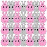 Wielkanocnych królików wzór (tło) Zdjęcie Royalty Free