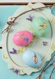 Wielkanocy barwioni jajka zdjęcia royalty free