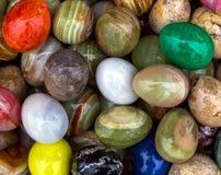 Wielkanocy barwioni jajka Obrazy Royalty Free