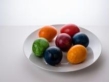 Wielkanocy barwioni jajka Fotografia Royalty Free