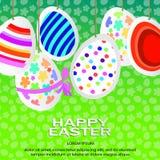 Wielkanocy barwioni jajka również zwrócić corel ilustracji wektora ilustracji