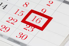 Wielkanocy data na kalendarzu Fotografia Stock