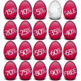 Wielkanocy dyskontowe odznaki - Easter jajka z ceny redukcją Obrazy Royalty Free