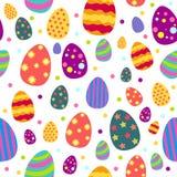 Wielkanocy i wiosny Tapetowy Bezszwowy Deseniowy tło ilustracji