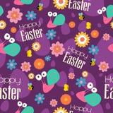 Wielkanocy i wiosny Tapetowy Bezszwowy Deseniowy tło ilustracja wektor