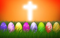 Wielkanocy jajek religii tła Przecinający Kolorowy wakacje ilustracja wektor