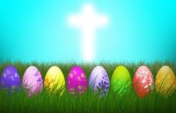 Wielkanocy jajek religii tła Przecinający Kolorowy wakacje royalty ilustracja