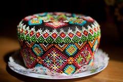 Wielkanocy panettone tortowy kulich lub Obrazy Stock