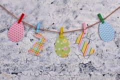 Wielkanocy papierowe wycinanki na arkanie zdjęcie royalty free