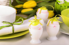 Wielkanocy stołowa dekoracja obrazy stock