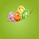 Wielkanocy zielony tło z jajkiem Zdjęcia Royalty Free