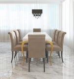 Wielki łomota stół dla osiem w stylu art deco Fotografia Stock