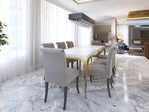 Wielki łomota stół dla osiem w stylu art deco Obraz Royalty Free