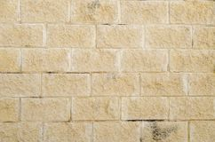 Wielki żółty ściana z cegieł zdjęcia royalty free