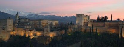 Wielki Alhambra w Granada Fotografia Stock