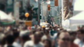 Wielki anonimowy tłum w 4K zdjęcie wideo