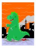 Wielki antyczny potwór ilustracja wektor