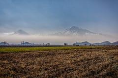 Wielki Ararat, Khor Virap monaster Fotografia Stock