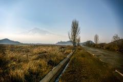 Wielki Ararat, Khor Virap monaster Obraz Royalty Free