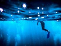 Wielki bariery rafy akwalungu pikowanie Obrazy Stock