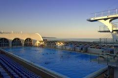 wielki basen opływa Zdjęcia Royalty Free