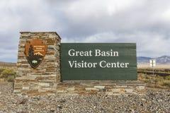 Wielki Basenowy parka narodowego znak Zdjęcie Royalty Free
