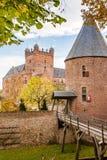 Wielki Benelux kasztel w holandiach jest na borde fotografia royalty free