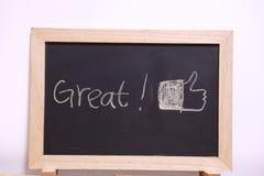 wielki blackboard Fotografia Royalty Free