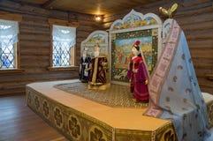 Wielki Boldino Pushkin muzealna ekspozycja bajki Fotografia Royalty Free