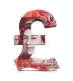 Wielki Brytania funta symbol Zdjęcia Royalty Free