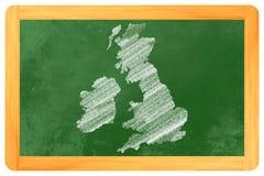 Wielki Brytania na blackboard Zdjęcia Royalty Free