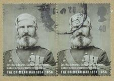Wielki Brytania znaczek z portretem Sgt Maj Edwards zdjęcie royalty free