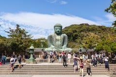 Wielki Buddha, Kamakura -, Japonia Zdjęcia Stock