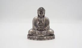 Wielki Buddha lub Daibutsu srebro model Zdjęcie Stock