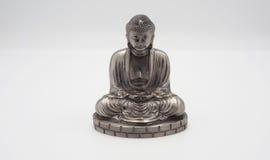 Wielki Buddha lub Daibutsu srebro model Fotografia Stock