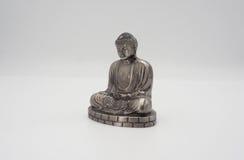 Wielki Buddha lub Daibutsu srebro model Zdjęcia Stock