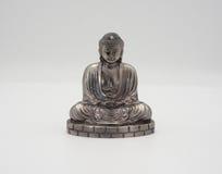 Wielki Buddha lub Daibutsu srebro model Obrazy Royalty Free