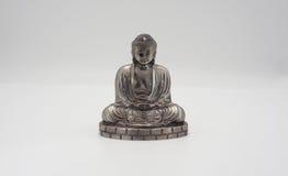 Wielki Buddha lub Daibutsu srebro model Obraz Stock