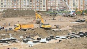 Wielki budowa teren w lecie zbiory wideo