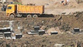Wielki budowa teren w lecie zbiory