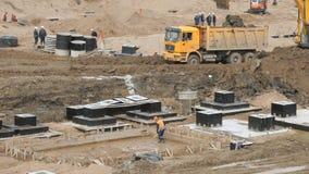 Wielki budowa teren w lecie zdjęcie wideo