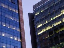 Wielki budynek biurowy w finanicial okręgu zdjęcie stock