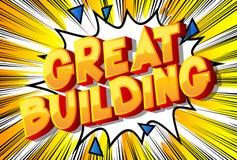 Wielki budynek - komiksu stylu słowa ilustracji