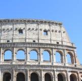 Wielki Colosseum w Rzym, Włochy, Europa Romański kolosseumu zakończenie z jasnym niebieskim niebem Obraz Royalty Free