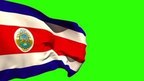 Wielki costa rica flaga państowowa dmuchanie ilustracji