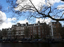 Wielki cutural dziedzictw buldings w Amsterdam Zdjęcie Royalty Free